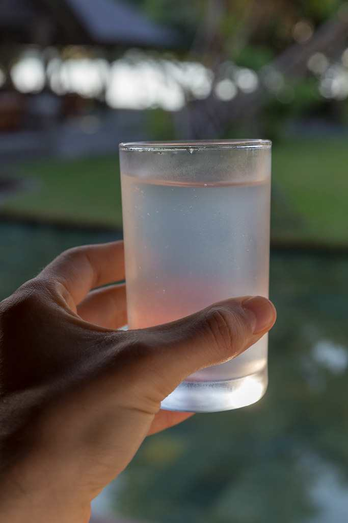 coconut water-in-glass