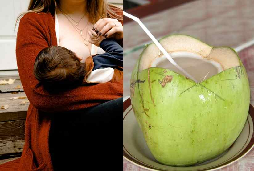 coconut water while breastfeeding