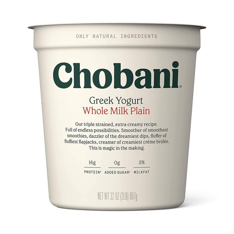 chobani whole milk Greek yogurt