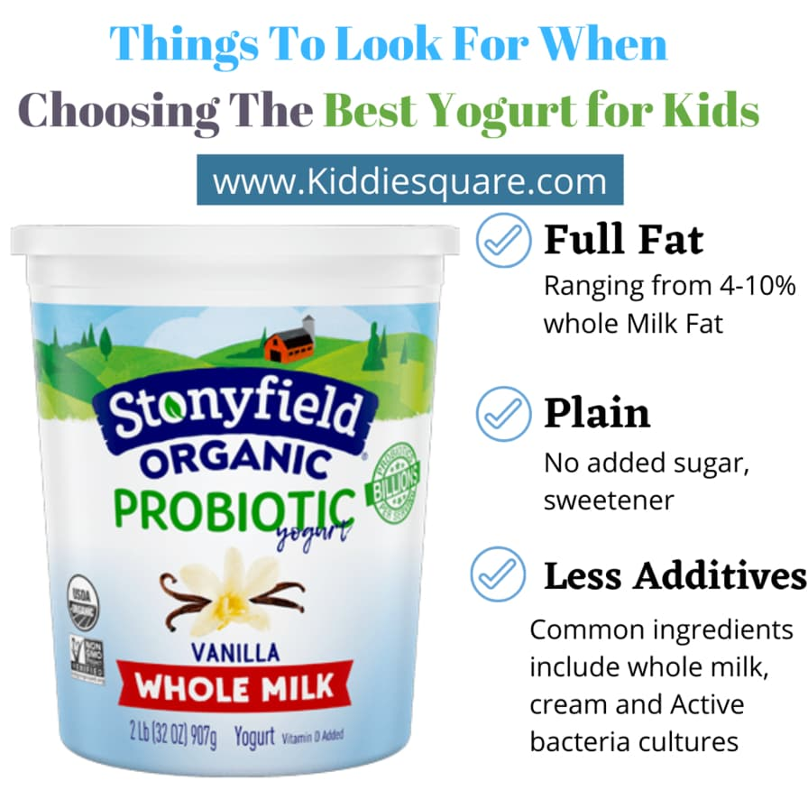choosing the best yogurt for kids