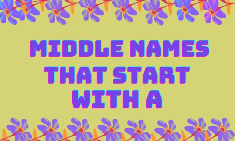 middle names that start with a