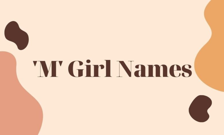 girl middle names that start with m