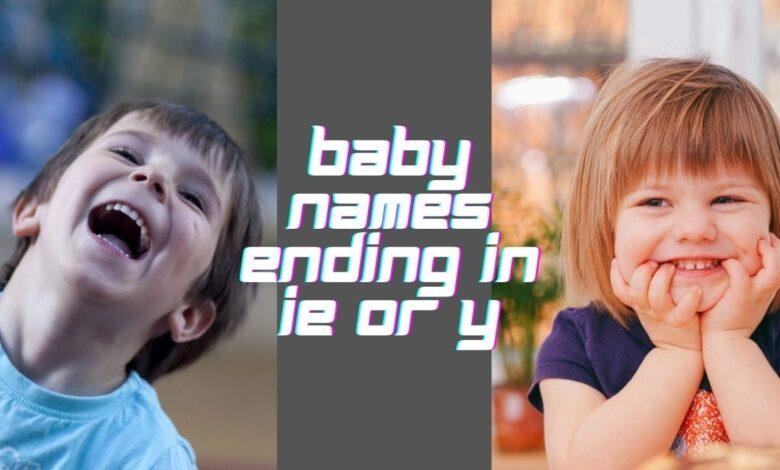 baby names ending in ie or y