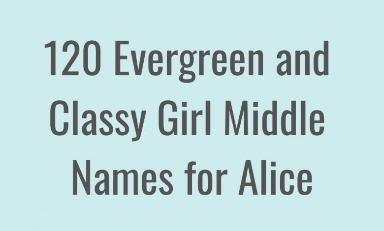 middle names for Alice