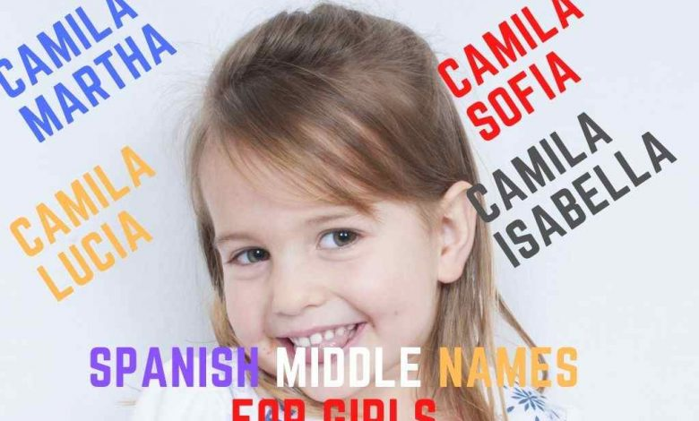 spanish middle names for girls