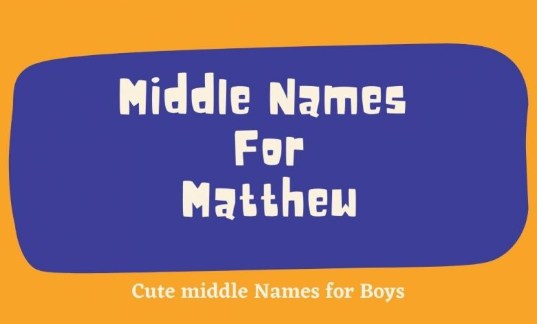 middle names for matthew