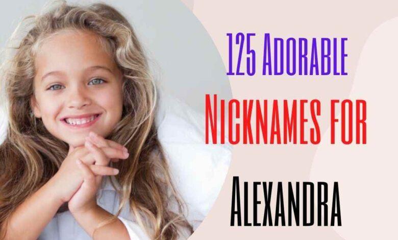 Adorable Nicknames for Alexandra